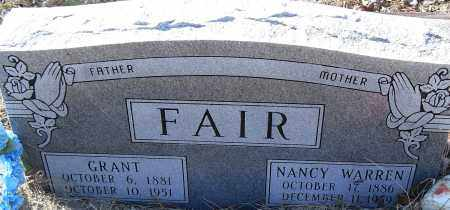 WARREN FAIR, NANCY - Pulaski County, Arkansas | NANCY WARREN FAIR - Arkansas Gravestone Photos