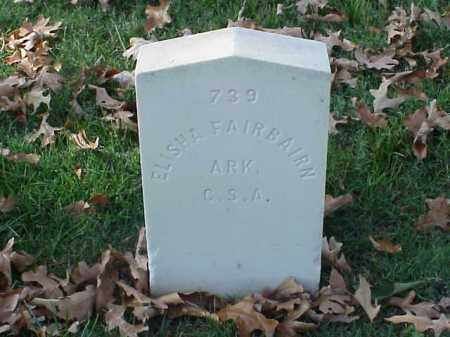 FAIRBAIRN (VETERAN CSA), ELISHA - Pulaski County, Arkansas | ELISHA FAIRBAIRN (VETERAN CSA) - Arkansas Gravestone Photos