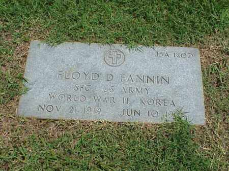 FANNIN (VETERAN 2 WARS), FLOYD D - Pulaski County, Arkansas | FLOYD D FANNIN (VETERAN 2 WARS) - Arkansas Gravestone Photos