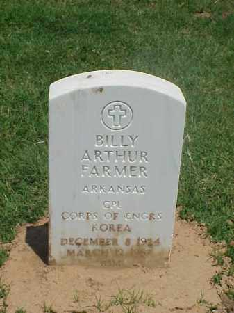 FARMER (VETERAN KOR), BILLY ARTHUR - Pulaski County, Arkansas | BILLY ARTHUR FARMER (VETERAN KOR) - Arkansas Gravestone Photos