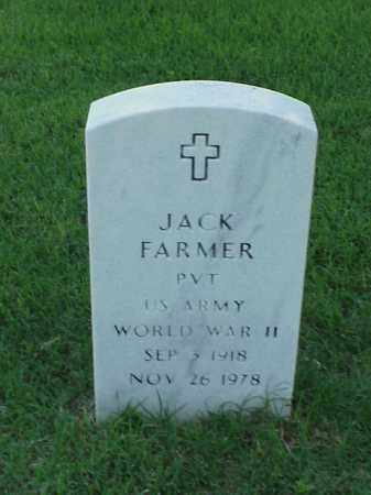 FARMER (VETERAN WWII), JACK - Pulaski County, Arkansas | JACK FARMER (VETERAN WWII) - Arkansas Gravestone Photos