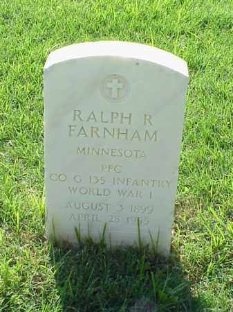 FARNHAM (VETERAN WWI), RALPH R - Pulaski County, Arkansas | RALPH R FARNHAM (VETERAN WWI) - Arkansas Gravestone Photos