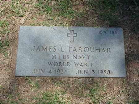 FARQUHAR (VETERAN WWII), JAMES E ) - Pulaski County, Arkansas | JAMES E ) FARQUHAR (VETERAN WWII) - Arkansas Gravestone Photos