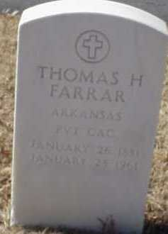 FARRAR  (VETERAN), THOMAS H - Pulaski County, Arkansas | THOMAS H FARRAR  (VETERAN) - Arkansas Gravestone Photos