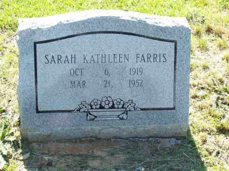 FARRIS, SARAH KATHLEEN - Pulaski County, Arkansas | SARAH KATHLEEN FARRIS - Arkansas Gravestone Photos
