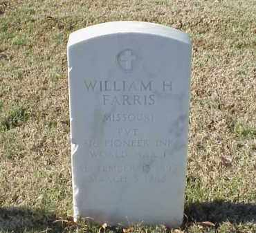 FARRIS (VETERAN WWI), WILLIAM H - Pulaski County, Arkansas | WILLIAM H FARRIS (VETERAN WWI) - Arkansas Gravestone Photos