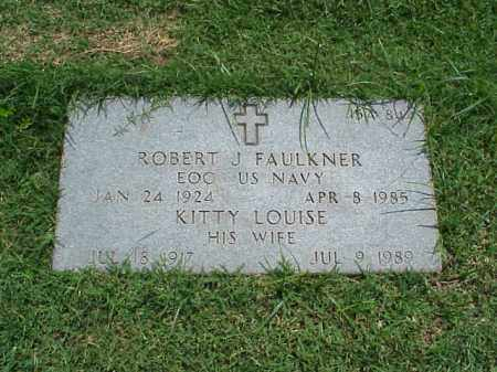 FAULKNER (VETERAN 2 WARS), ROBERT J - Pulaski County, Arkansas | ROBERT J FAULKNER (VETERAN 2 WARS) - Arkansas Gravestone Photos