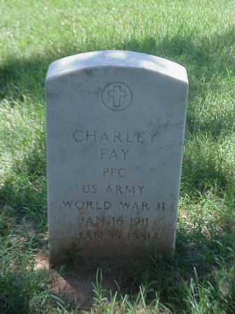 FAY (VETERAN WWII), CHARLEY - Pulaski County, Arkansas | CHARLEY FAY (VETERAN WWII) - Arkansas Gravestone Photos