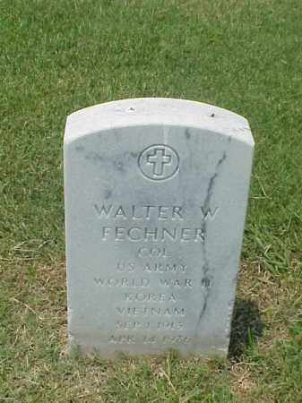 FECHNER (VETERAN 3 WARS), WALTER W - Pulaski County, Arkansas | WALTER W FECHNER (VETERAN 3 WARS) - Arkansas Gravestone Photos