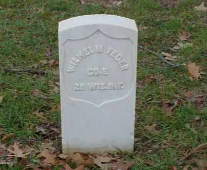 FEDER (VETERAN UNION), WILHELM - Pulaski County, Arkansas | WILHELM FEDER (VETERAN UNION) - Arkansas Gravestone Photos