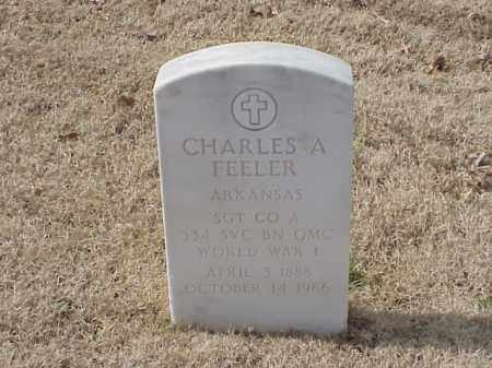 FEELER (VETERAN WWI), CHARLES A - Pulaski County, Arkansas | CHARLES A FEELER (VETERAN WWI) - Arkansas Gravestone Photos