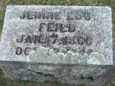 FEILD, JENNIE LOU - Pulaski County, Arkansas | JENNIE LOU FEILD - Arkansas Gravestone Photos