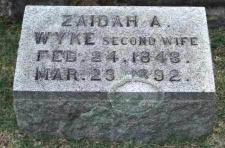 WYKE FEILD, ZAIDAH A. - Pulaski County, Arkansas | ZAIDAH A. WYKE FEILD - Arkansas Gravestone Photos