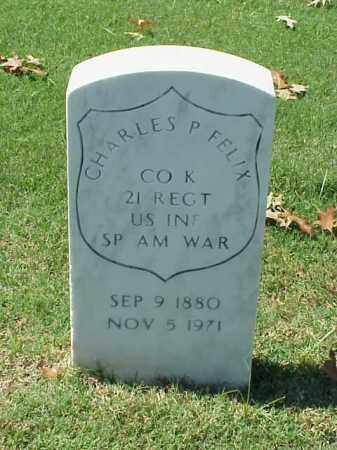 FELIX (VETERAN SAW), CHARLES P - Pulaski County, Arkansas | CHARLES P FELIX (VETERAN SAW) - Arkansas Gravestone Photos