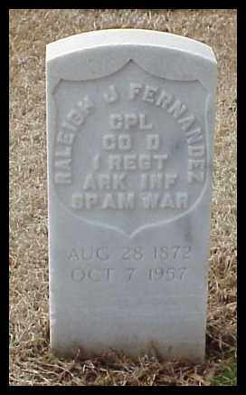 FERNANDEZ (VETERAN SAW), RALEIGH JAMES - Pulaski County, Arkansas | RALEIGH JAMES FERNANDEZ (VETERAN SAW) - Arkansas Gravestone Photos