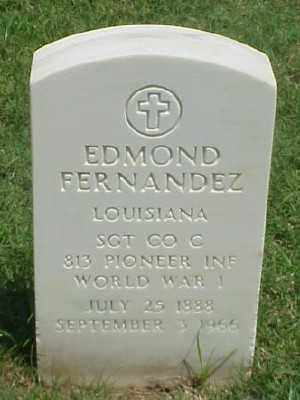 FERNANDEZ (VETERAN WWI), EDMOND - Pulaski County, Arkansas | EDMOND FERNANDEZ (VETERAN WWI) - Arkansas Gravestone Photos