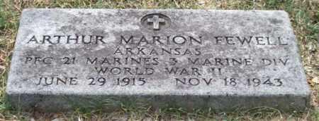 FEWELL (VETERAN WWII), ARTHUR MARION - Pulaski County, Arkansas | ARTHUR MARION FEWELL (VETERAN WWII) - Arkansas Gravestone Photos