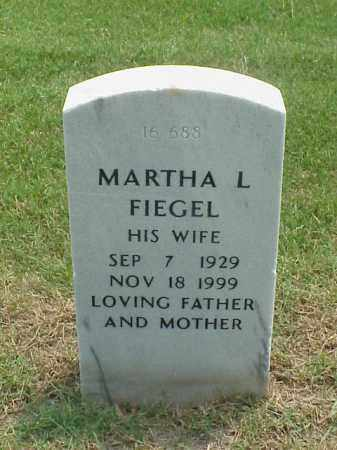 FIEGEL, MARTHA L - Pulaski County, Arkansas | MARTHA L FIEGEL - Arkansas Gravestone Photos