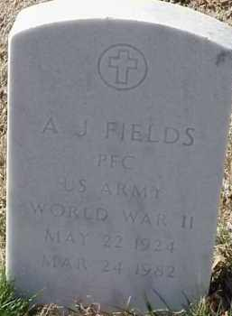 FIELDS  (VETERAN WWII), A J - Pulaski County, Arkansas | A J FIELDS  (VETERAN WWII) - Arkansas Gravestone Photos