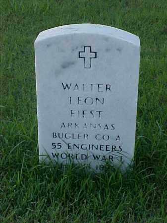FIEST (VETERAN WWI), WALTER LEON - Pulaski County, Arkansas | WALTER LEON FIEST (VETERAN WWI) - Arkansas Gravestone Photos