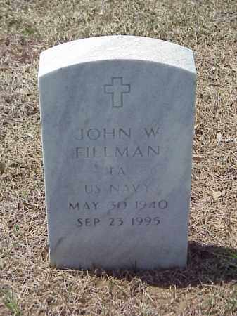 FILLMAN (VETERAN), JOHN W - Pulaski County, Arkansas | JOHN W FILLMAN (VETERAN) - Arkansas Gravestone Photos