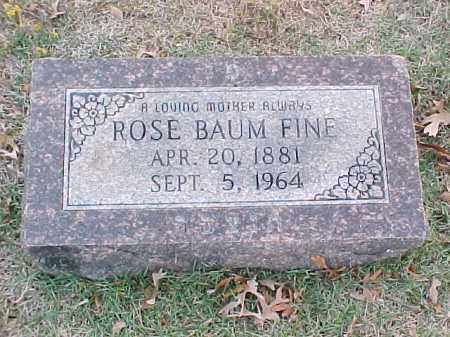 BAUM FINE, ROSE - Pulaski County, Arkansas | ROSE BAUM FINE - Arkansas Gravestone Photos
