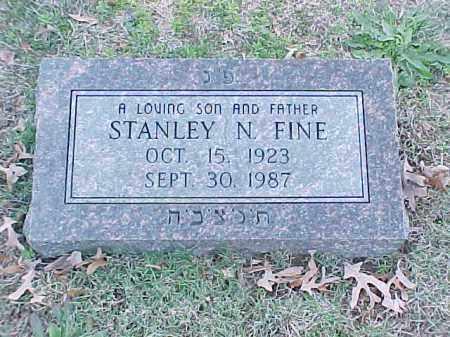 FINE, STANLEY N - Pulaski County, Arkansas | STANLEY N FINE - Arkansas Gravestone Photos