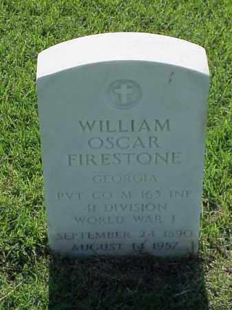 FIRESTONE (VETERAN WWI), WILLIAM OSCAR - Pulaski County, Arkansas | WILLIAM OSCAR FIRESTONE (VETERAN WWI) - Arkansas Gravestone Photos