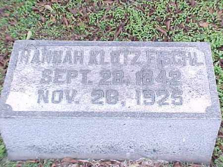 FISCHL, HANNAH - Pulaski County, Arkansas | HANNAH FISCHL - Arkansas Gravestone Photos