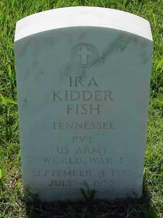FISH (VETERAN WWI), IRA KIDDER - Pulaski County, Arkansas | IRA KIDDER FISH (VETERAN WWI) - Arkansas Gravestone Photos