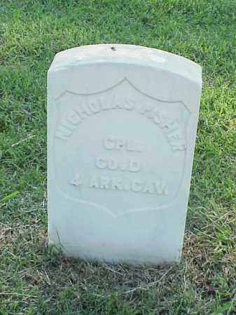 FISHER (VETERAN UNION), NICHOLAS - Pulaski County, Arkansas | NICHOLAS FISHER (VETERAN UNION) - Arkansas Gravestone Photos