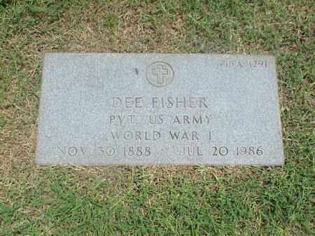 FISHER (VETERAN WWI), DEE - Pulaski County, Arkansas | DEE FISHER (VETERAN WWI) - Arkansas Gravestone Photos