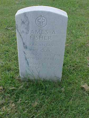 FISHER (VETERAN WWI), JAMES A - Pulaski County, Arkansas | JAMES A FISHER (VETERAN WWI) - Arkansas Gravestone Photos