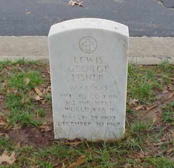 FISHER (VETERAN WWII), LEWIS GEORGE - Pulaski County, Arkansas | LEWIS GEORGE FISHER (VETERAN WWII) - Arkansas Gravestone Photos