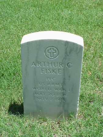 FISKE (VETERAN WWI), ARTHUR C - Pulaski County, Arkansas | ARTHUR C FISKE (VETERAN WWI) - Arkansas Gravestone Photos