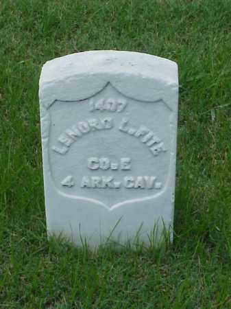 FITE (VETERAN UNION), LENORD L - Pulaski County, Arkansas | LENORD L FITE (VETERAN UNION) - Arkansas Gravestone Photos