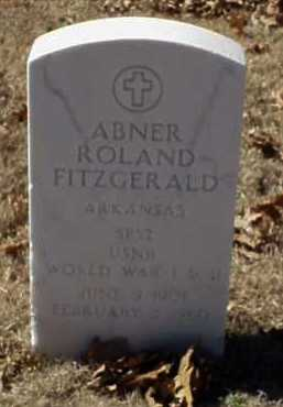 FITZGERALD  (VETERAN 2 WARS), ABNER ROLAND - Pulaski County, Arkansas | ABNER ROLAND FITZGERALD  (VETERAN 2 WARS) - Arkansas Gravestone Photos