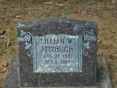 FITZHUGH, LILLIAN W - Pulaski County, Arkansas | LILLIAN W FITZHUGH - Arkansas Gravestone Photos