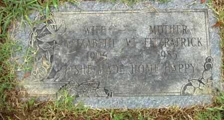 FITZPATRICK, ELIZABETH W. - Pulaski County, Arkansas | ELIZABETH W. FITZPATRICK - Arkansas Gravestone Photos