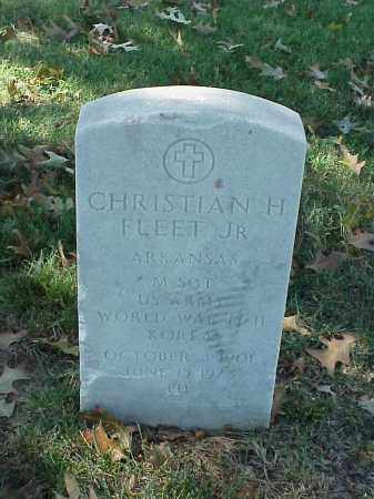 FLEET, JR (VETERAN 3 WARS), CHRISTIAN H - Pulaski County, Arkansas | CHRISTIAN H FLEET, JR (VETERAN 3 WARS) - Arkansas Gravestone Photos