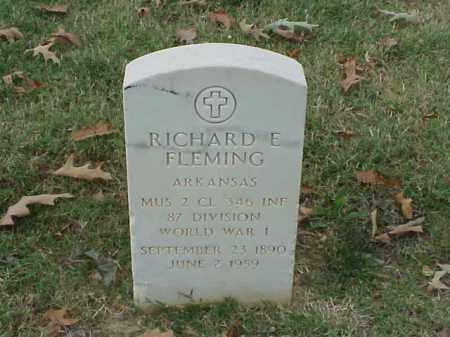 FLEMING (VETERAN WWI), RICHARD E - Pulaski County, Arkansas | RICHARD E FLEMING (VETERAN WWI) - Arkansas Gravestone Photos
