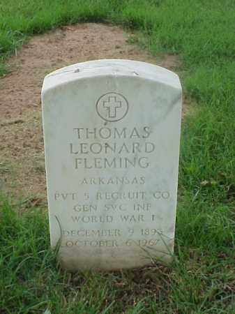 FLEMING (VETERAN WWI), THOMAS LEONARD - Pulaski County, Arkansas | THOMAS LEONARD FLEMING (VETERAN WWI) - Arkansas Gravestone Photos