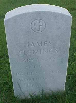 FLEMINGS (VETERAN WWI), JAMES - Pulaski County, Arkansas | JAMES FLEMINGS (VETERAN WWI) - Arkansas Gravestone Photos
