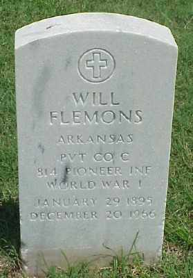 FLEMONS (VETERAN WWI), WILL - Pulaski County, Arkansas | WILL FLEMONS (VETERAN WWI) - Arkansas Gravestone Photos