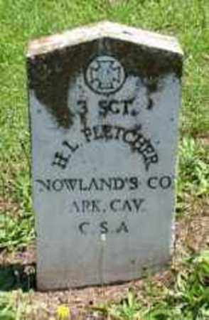 FLETCHER,  JR (VETERAN CSA), HENRY  LEWIS - Pulaski County, Arkansas | HENRY  LEWIS FLETCHER,  JR (VETERAN CSA) - Arkansas Gravestone Photos