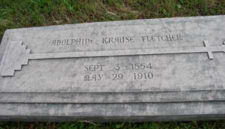 KRAUSE FLETCHER, ADOLPHINE - Pulaski County, Arkansas | ADOLPHINE KRAUSE FLETCHER - Arkansas Gravestone Photos