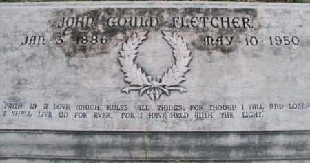 FLETCHER, JOHN GOULD  (CLOSE UP) - Pulaski County, Arkansas | JOHN GOULD  (CLOSE UP) FLETCHER - Arkansas Gravestone Photos