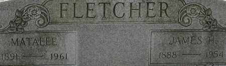 FLETCHER, JAMES H. (CLOSEUP) - Pulaski County, Arkansas | JAMES H. (CLOSEUP) FLETCHER - Arkansas Gravestone Photos
