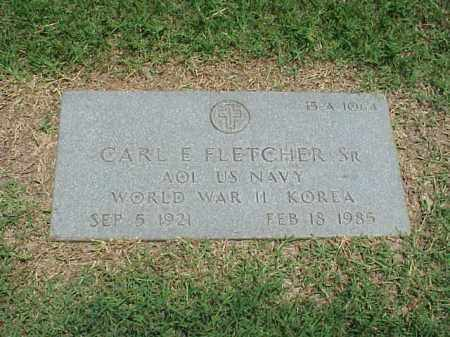 FLETCHER, SR (VETERAN 2 WARS), CARL E - Pulaski County, Arkansas | CARL E FLETCHER, SR (VETERAN 2 WARS) - Arkansas Gravestone Photos