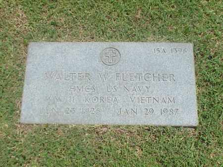 FLETCHER (VETERAN 3 WARS), WALTER W - Pulaski County, Arkansas | WALTER W FLETCHER (VETERAN 3 WARS) - Arkansas Gravestone Photos